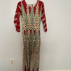 AFRICAN PRINT Long Dress Size 4